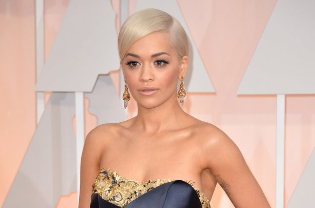 Rita Ora arrives on the red carpet at the 87th Academy Awards at the Hollywood & Highland Center in Los Angeles on February 22, 2015. Photo by Kevin Dietsch/UPI