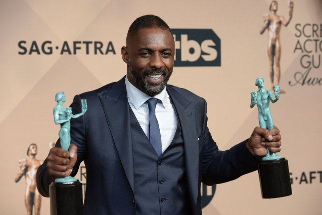 Idris Elba, winner of Outstanding Performance by a Male Actor in a Supporting Role for Beasts of No Nation, and Outstanding Performance by a Male Actor in a Television Movie or Miniseries for Luther, appears backstage during the 22nd annual Screen Actors Guild Awards at the Shrine Auditorium & Expo Hall in Los Angeles on January 30, 2016. The actor turns 45 on September 6. File Photo by Jim Ruymen/UPI