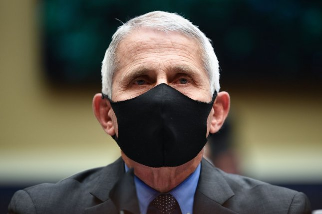 Director of the National Institute for Allergy and Infectious Diseases Dr. Anthony Fauci wears a face mask while he waits to testifiy before the House Committee on Energy and Commerce on the Trump Administration's Response to the COVID-19 Pandemic, on Capitol Hill in Washington, D.C., on June 23. Photo by Kevin Dietsch/UPI