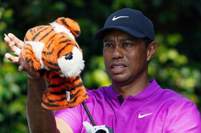Experts say Tiger Woods has a long way to go in his recovery process from the broken leg, ankle and foot injuries he sustained in a car crash Tuesday in California. File Photo by Kevin Dietsch/UPI