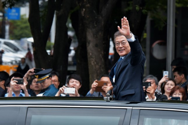 South Korea's new President Moon Jae-in has been reportedly more conciliatory in his remarks regarding North Korea, but he has plans to boost Seoul's military. Photo by Keizo Mori/UPI