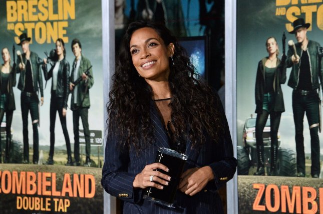 Rosario Dawson played Allegra Pick Dill on the USA Network series Briarpatch. File Photo by Jim Ruymen/UPI