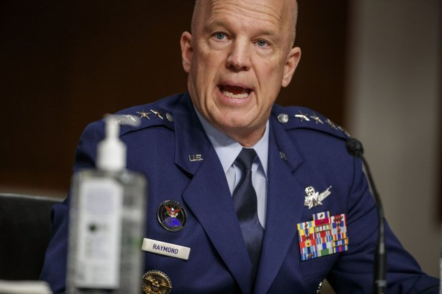 Chief of Space Operations at U.S. Space Force General John Raymond, seen testifying before the U.S. Senate in May, activated the new branch's first field command this week. Pool photo by Shawn Thew/UPI