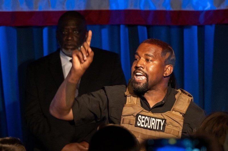 Kanye West's Donda is No. 1 on the Billboard 200 album chart this week. File Photo by Richard Ellis/UPI