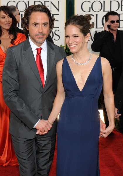 Actor Robert Downey Jr. and his wife Susan arrive at the 68th annual Golden Globes Awards in Beverly Hills, California on January 16, 2011. UPI/Jim Ruymen