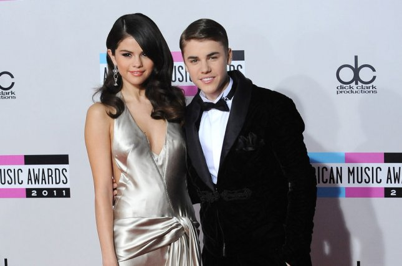 Selena Gomez and Justin Bieber. UPI/Jim Ruymen