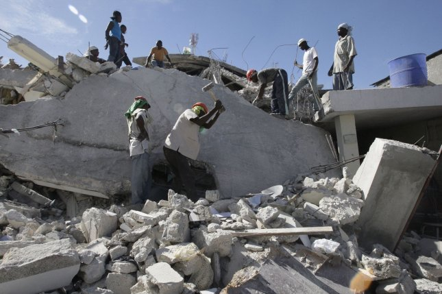The 7.0-magnitude earthquake that struck Haiti in 2010 killed up to 316,000 people and displaced 1.5 million, causing a national crisis that led to an exodus. File Photo by UPI/Anatoli Zhdanov