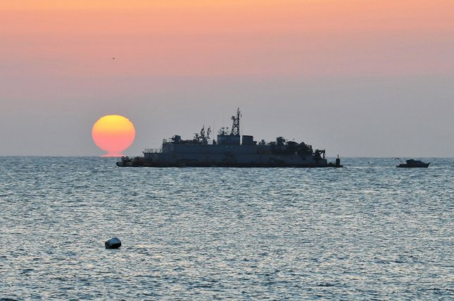 A South Korean navy's floating base stationed near the western coast of the peninsula. A South Korean analyst said Thursday North Korean submarines could launch a torpedo attack against South Korean vessels. File Photo by Keizo Mori/UPI