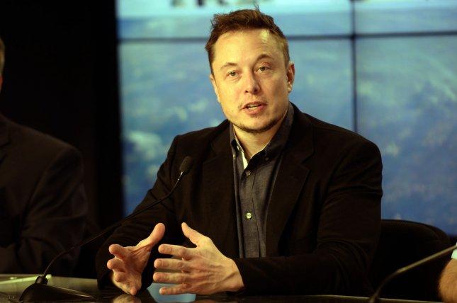 Elon Musk answers questions after launching a rocket from the Kennedy Space Center on March 30. File Photo by Joe Marino, Bill Cantrell/UPI
