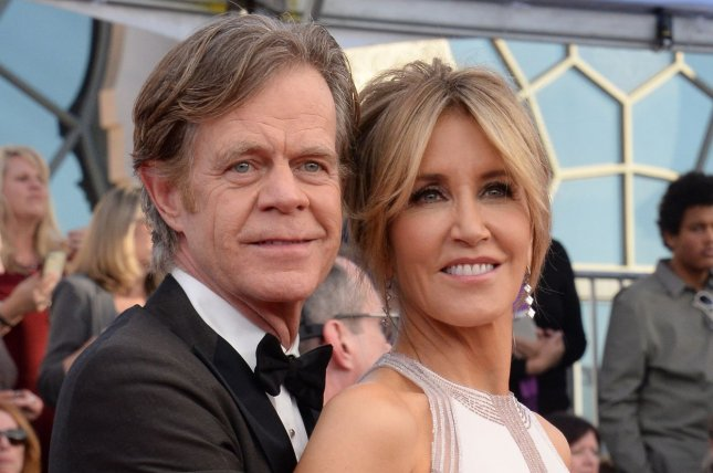 Felicity Huffman (R) and William H. Macy attend the Screen Actors Guild Awards on January 29. The actress dedicated a sweet post to Macy on their 20th wedding anniversary. File Photo by Jim Ruymen/UPI