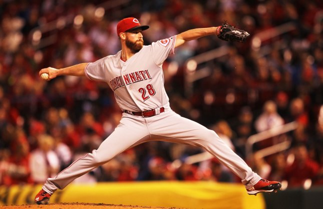 Anthony DeSclafani and the Cincinnati Reds take on the Chicago White Sox on Tuesday. Photo by Bill Greenblatt/UPI