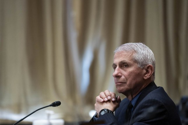 Dr. Anthony Fauci, director of the National Institute of Allergy and Infectious Diseases, listensduring a Senate hearing Wednesday looking at budget estimates for the National Institutes of Health and the state of medical research, on Capitol Hill in Washington, D.C. Photo by Sarah Silbiger/UPI