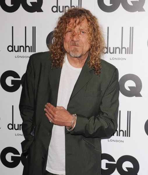 British singer Robert Plant from Led Zeppelin attends the GQ Man Of The Year Awards at the Royal Opera House in London on September 2, 2008. (UPI Photo/Rune Hellestad)