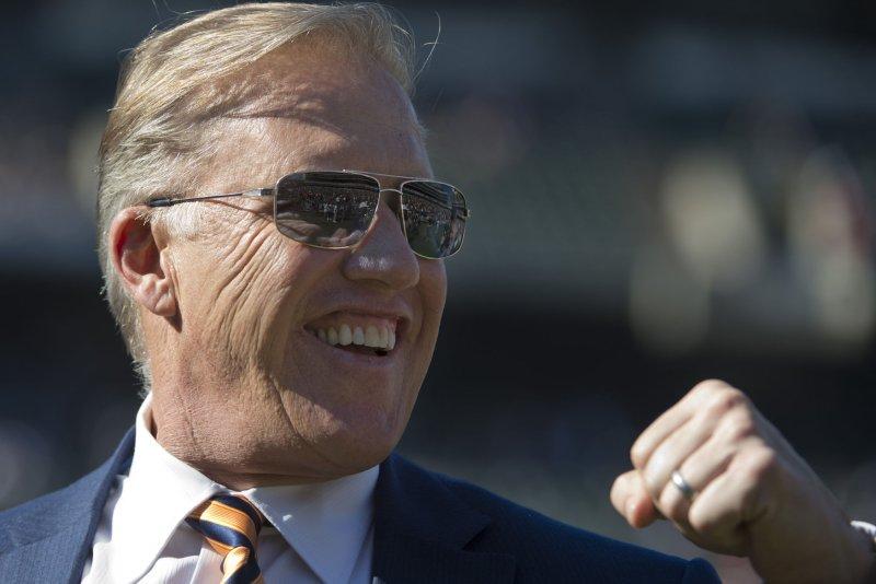 Denver Broncos Executive VP John Elway. UPI/Terry Schmitt