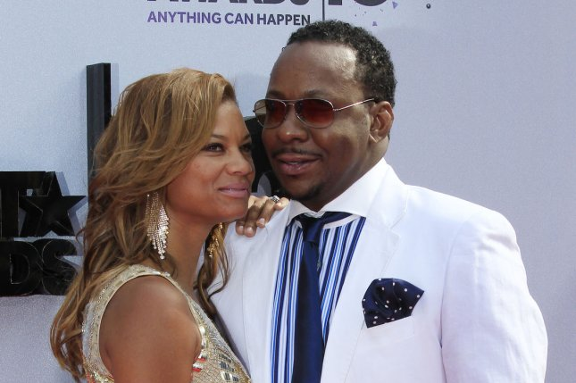 Bobby Brown (R) and Alicia Etheredge at the BET Awards on June 30, 2013. The couple married in 2012. File Photo by Alex Gallardo/UPI