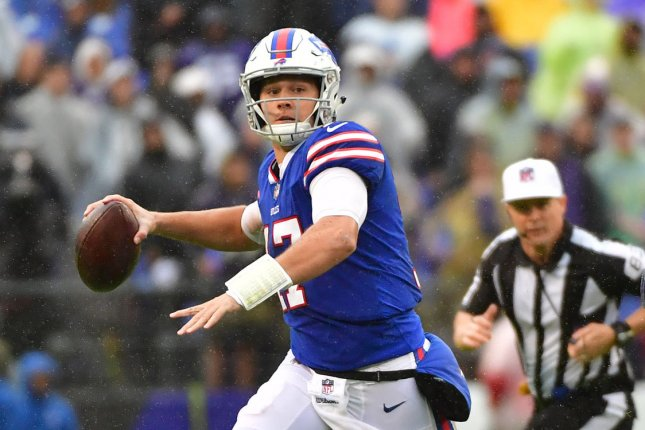 Josh Allen and the Buffalo Bills take on the Jacksonville Jaguars on Sunday. Photo by Kevin Dietsch/UPI