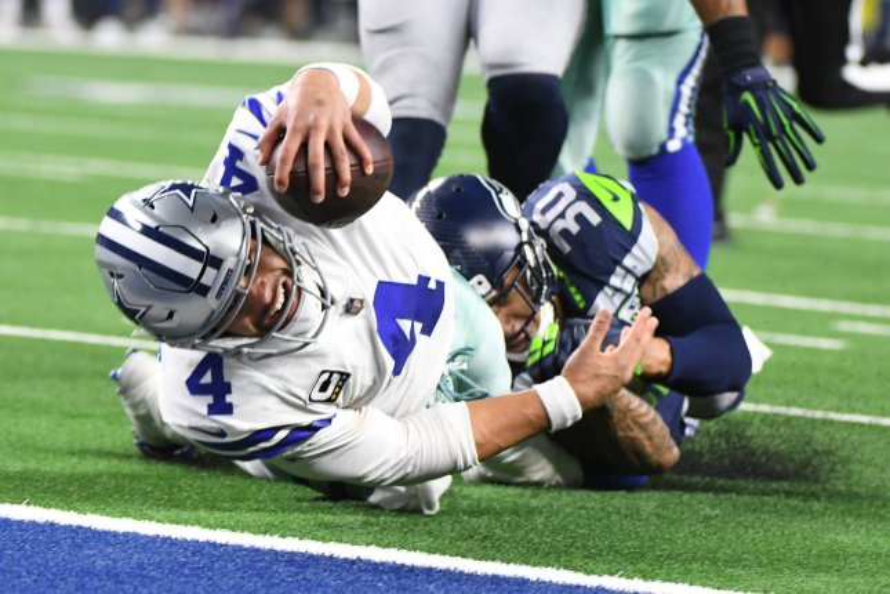 Dallas Cowboys quarterback Dak Prescott threw four touchdown passes in his first game this season. File Photo by Ian Halperin/UPI
