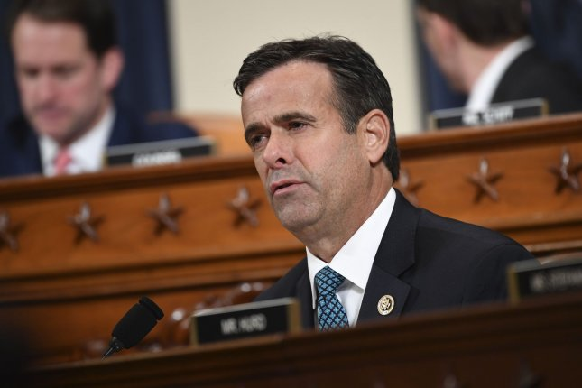Rep. John Ratcliffe, R-Texas, withdrew his name for consideration as director of national intelligence citing media scrutiny. File Photo by Kevin Dietsch/UPI