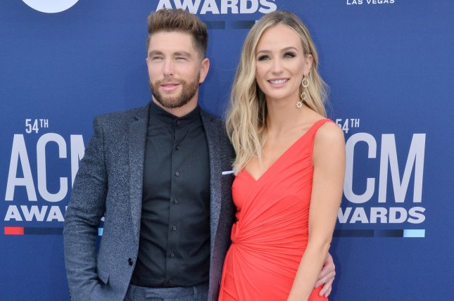 Lauren Bushnell (R) gave an update after Dutton, her newborn son with Chris Lane, was hospitalized. File Photo by Jim Ruymen/UPI