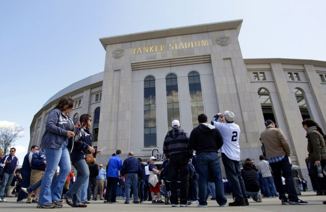 The New York Yankees Thursday denied a report that the team could be put up for sale. File photo. UPI/John Angelillo