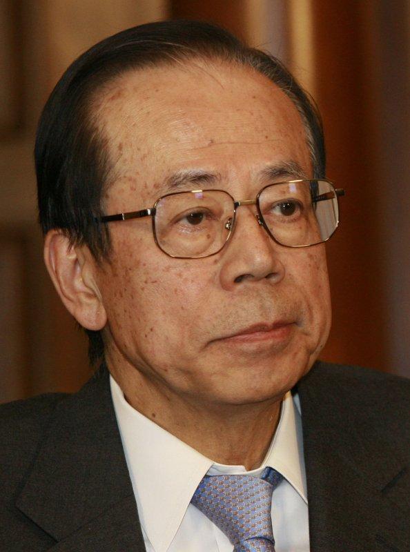 Japanese Prime Minister Yasuo Fukuda, April 26, 2008. (UPI Photo/Anatoli Zhdanov)