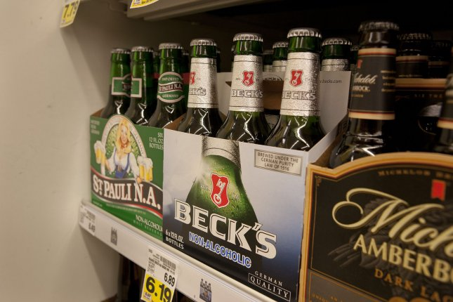 Beck's beer is displayed between St. Pauli and a Michelob product at the King Soopers supermarket in Lakewood, Colorado on June 20, 2012. UPI/Gary C. Caskey