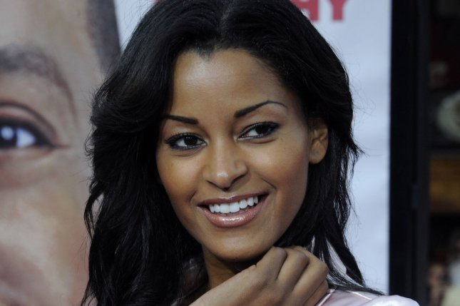 Claudia Jordan attends the premiere of Meet Dave in 2008. Jordan backtracked Tuesday on comments that her friend Jamie Foxx and actress Katie Holmes are dating, a rumor that has been circulating for years. File Photo by Jim Ruymen/UPI