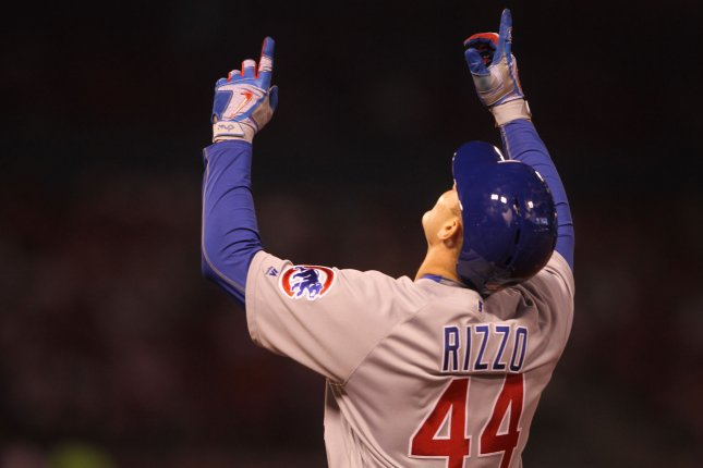 Chicago Cubs' Anthony Rizzo. Photo by Bill Greenblatt/UPI