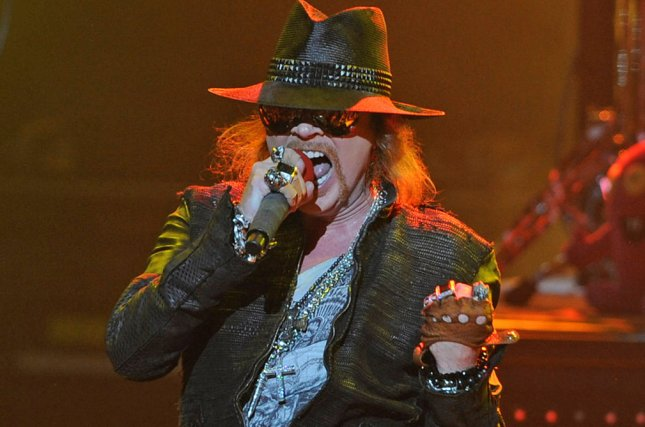 Axl Rose with Guns N' Roses performs in concert in Miami Beach on March 5, 2012. File Photo by Michael Bush/UPI