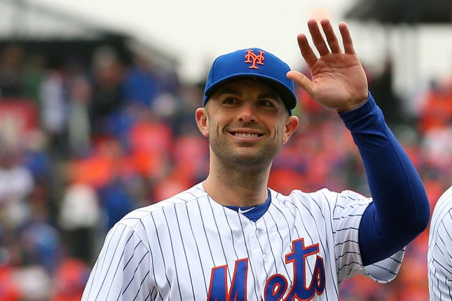 New York Mets captain David Wright acknowledges the fans during pre-game introductions on Opening Day before a game between the St. Louis Cardinals and New York Mets on March 29 at Citi Field in New York City. Photo by Rich Schultz/UPI