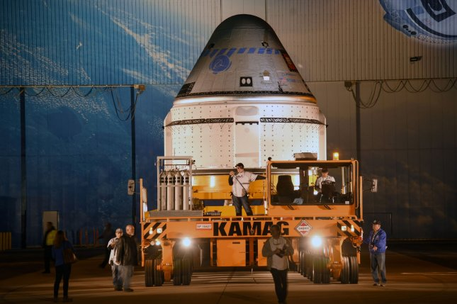 A Boeing Starliner spacecraft like this one at Kennedy Space Center, Fla., in November will go through another test flight before carrying people. File photo by Joe Marino-Bill Cantrell/UPI