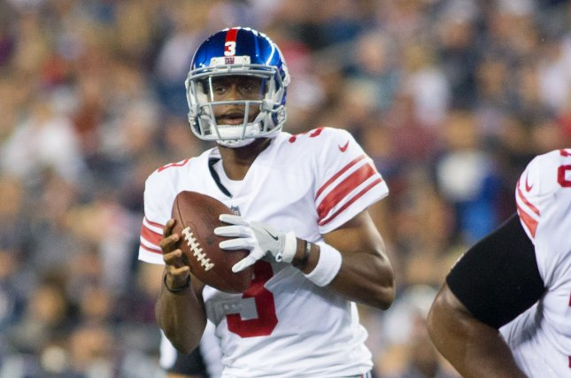 Former New York Giants quarterback Geno Smith spent the 2019 season with the Seattle Seahawks, but he didn't appear in a regular-season game. File Photo by Matthew Healey/UPI
