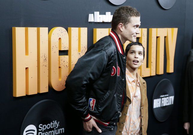 Karl Glusman (L) and Zoe Kravitz are divorcing after less than two years of marriage. File Photo by John Angelillo/UPI