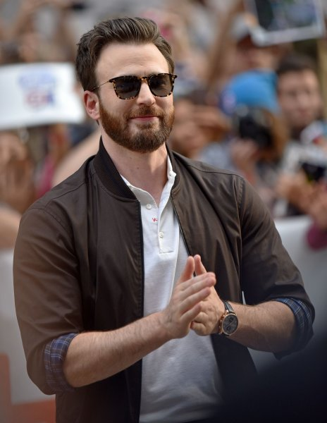 Chris Evans arrives for the world premiere of Knives Out at the Princess of Wales Theatre during the Toronto International Film Festival in Canada on September 7, 2019. The actor turns 40 on June 13. File Photo by Chris Chew/UPI