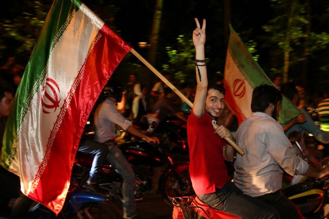 Iranians celebrate on the streets of Tehran after the announcement of Iran's historical nuclear deal with world powers on July 14, 2015. Photo by Saba Taherian/UPI