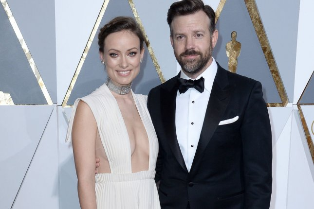 Actress Olivia Wilde, left, and actor Jason Sudeikis arrive on the red carpet for the 88th Academy Awards in Los Angeles on February 28, 2016. File Photo by Jim Ruymen/UPI