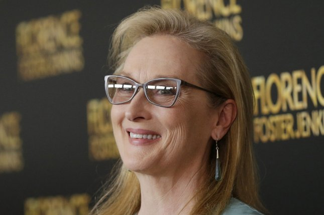 Meryl Streep arrives on the red carpet at the Florence Foster Jenkins premiere on August 9, 2016 in New York City. Photo by John Angelillo/UPI
