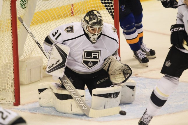 Slow starters during their recent losing streak, the Los Angeles Kings reverted to a more successful formula Tuesday night, scoring twice on their first three shots, to snap a four-game skid with a 3-1 victory over the New Jersey Devils at the Prudential Center. File Photo by Bill Greenblatt/UPI