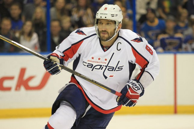 Alex Ovechkin erased a 10-game scoreless drought, the longest of his storied career, with a second-period goal as the Washington Capitals ended a four-game skid Tuesday night with an impressive 4-2 victory over the Minnesota Wild in a showdown between conference leaders. File Photo by Bill Greenblatt/UPI