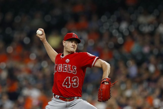 Garrett Richards and the Los Angeles Angels face the Minnesota Twins on Friday. Photo by Aaron M. Sprecher/UPI