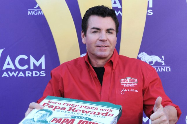 Papa John's Pizza founder John Schnatter sued the pizza chain for company documents, alleging its request for him to resign from the board was a result of negligence or a premeditated coup. File Photo by Jim Ruymen/UPI