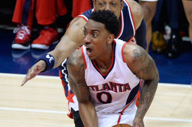 Former Atlanta Hawks guard Jeff Teague (0) joined the Boston Celtics this past off-season on a one-year contract. He later was traded to the Orlando Magic, who waived him. File Photo by David Tulis/UPI