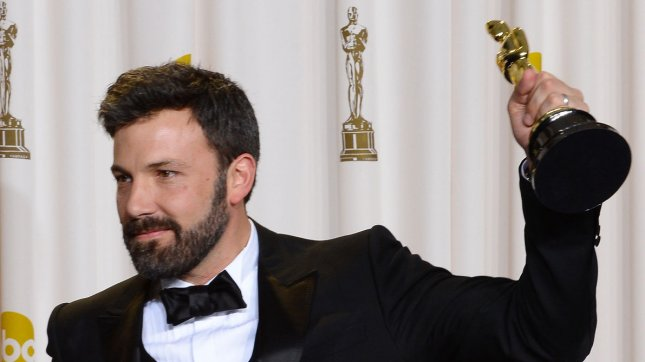 Ben Affleck holds his Oscar for best Motion Picture of the Year Argo backstage at the 85th Academy Awards at the Hollywood and Highland Center in the Hollywood section of Los Angeles on February 24, 2013. UPI/Jim Ruymen