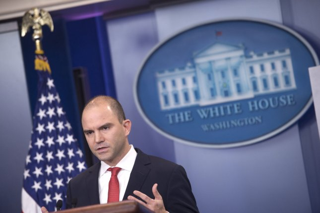 Ben Rhodes, the White House deputy national security advisor, said Monday more pressure needs to be applied to North Korea. Photo by Kevin Dietsch/UPI