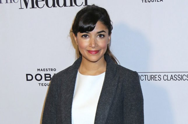 Hannah Simone attends the Los Angeles premiere of The Meddler on April 13, 2016. The actress' rep confirmed Wednesday that Simone gave birth to a son this month. File Photo by David Silpa/UPI