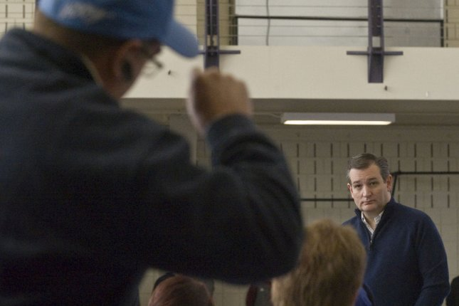 Texas Sen. Ted Cruz listens to questions from voters during a town hall-style event. File Photo by Mark Davitt/UPI