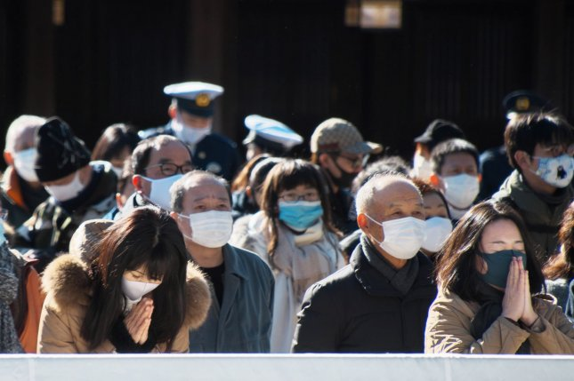 Tokyo issued an emergency declaration as Japan confirmed 7,500 new cases on Thursday. File Photo by Keizo Mori/UPI