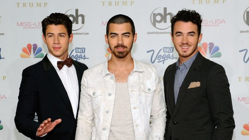 (L-R) Nick Jonas, Joe Jonas and Kevin Jonas. UPI/David Becker