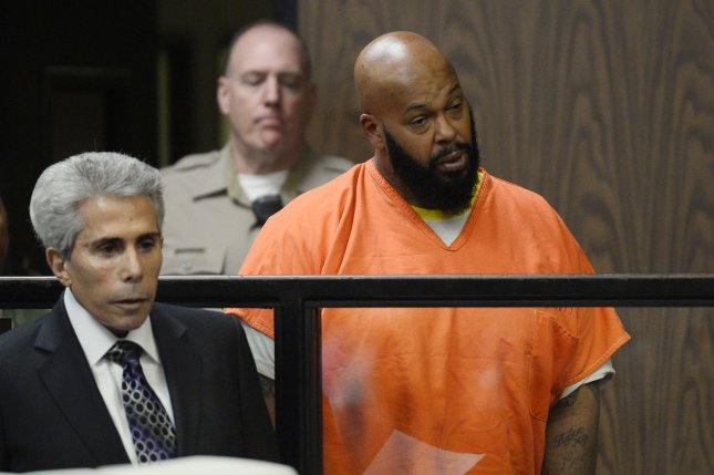 Former rap mogul Marion Suge'' Knight was taken to the hospital Monday after a hearing. Photo by Paul Buck/UPI/pool