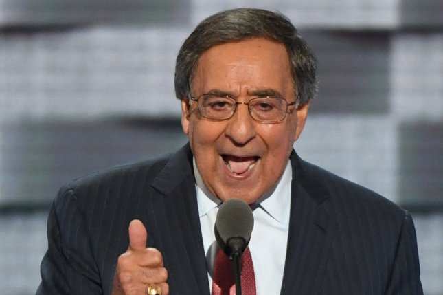 Former secretary of defense Leon Panetta addresses the delegates during Day Three of the Democratic National Convention in Philadelphia. He criticized Doald Trump for calling on Russia to hack the United States. Photo by Pat Benic/UPI